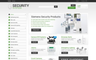 Security System PrestaShop Theme