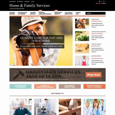 Thème Magento adaptatif  pour site des réparations à domicile