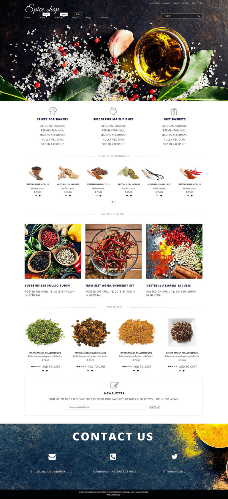 Spice House WooCommerce Theme New Screenshots BIG