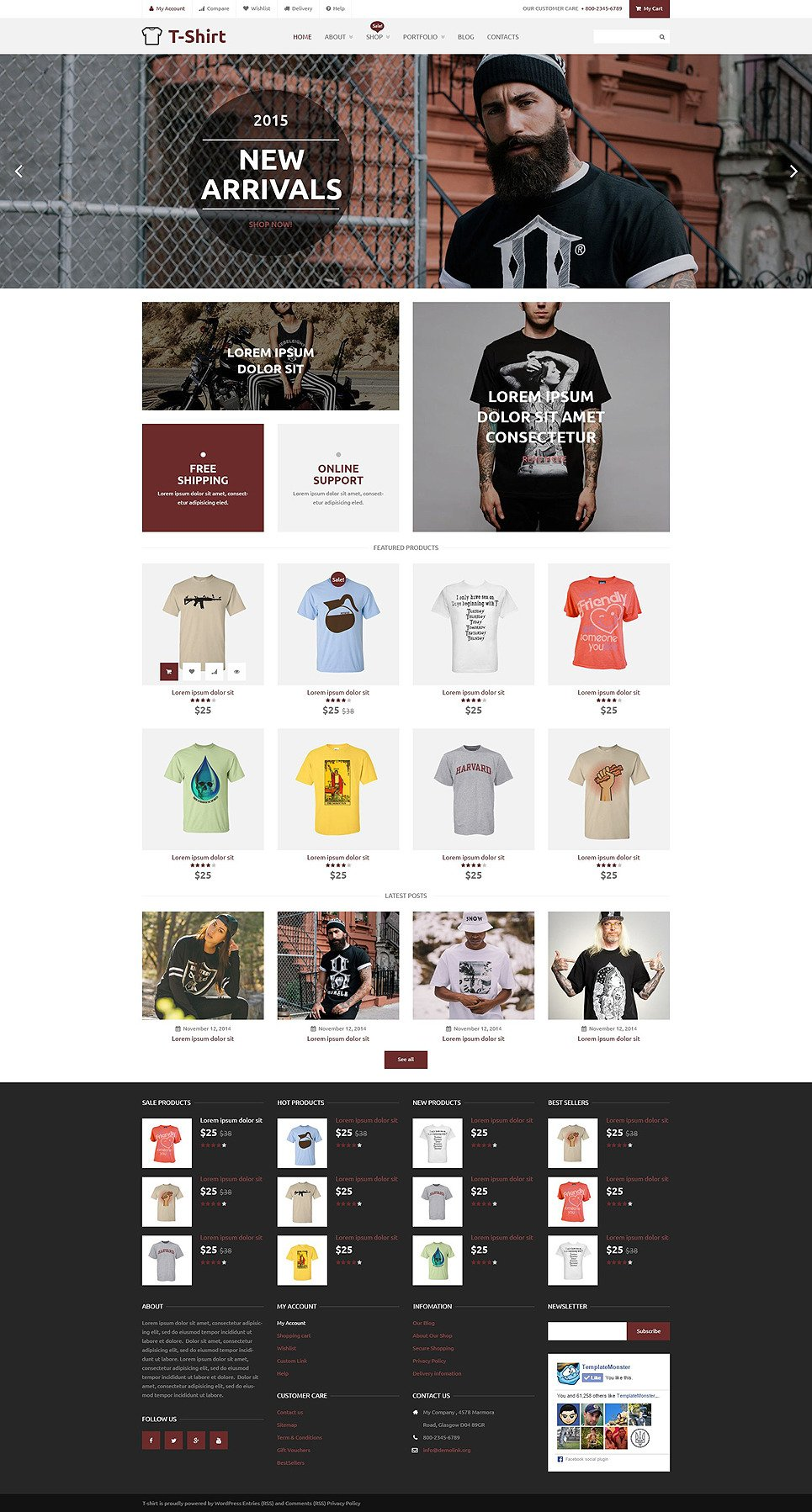 T-Shirt Shop WooCommerce Theme New Screenshots BIG