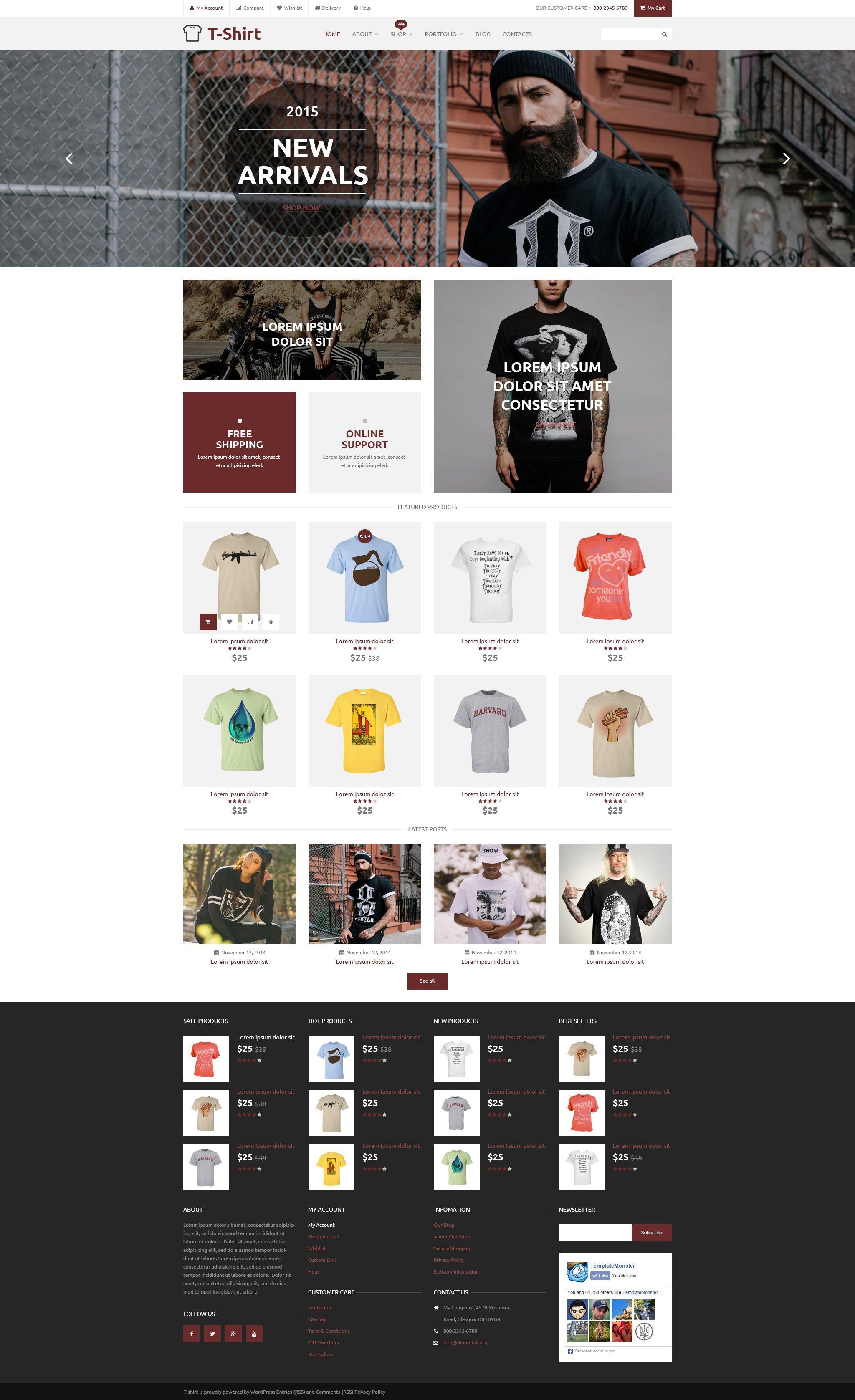 T-Shirt Shop WooCommerce Theme