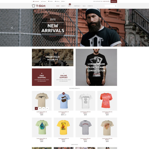 T-Shirt  - WooCommerce Template based on Bootstrap