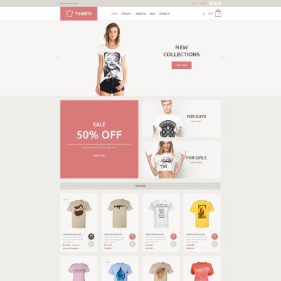 Tshirt Shop Responsive VirtueMart Template - T shirt design website template