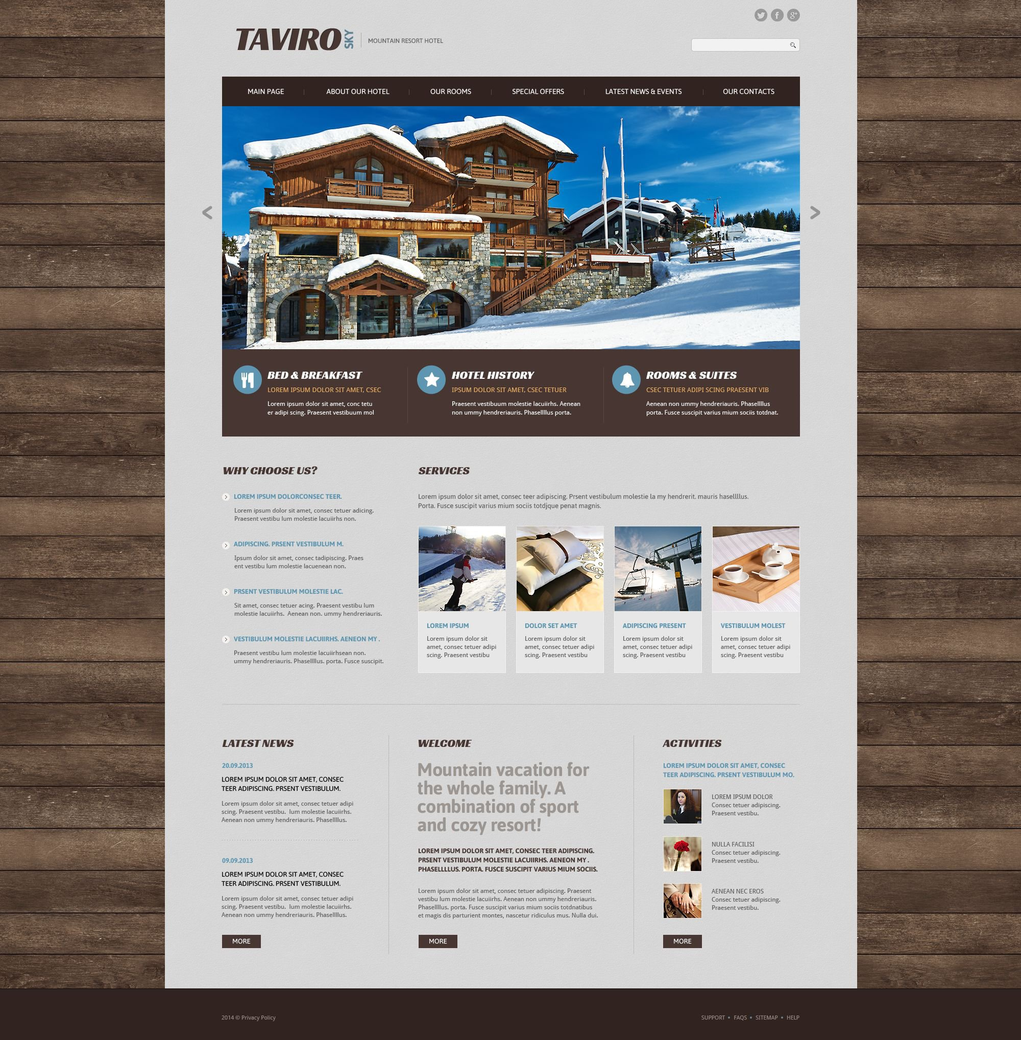Resort Hotel Web Template