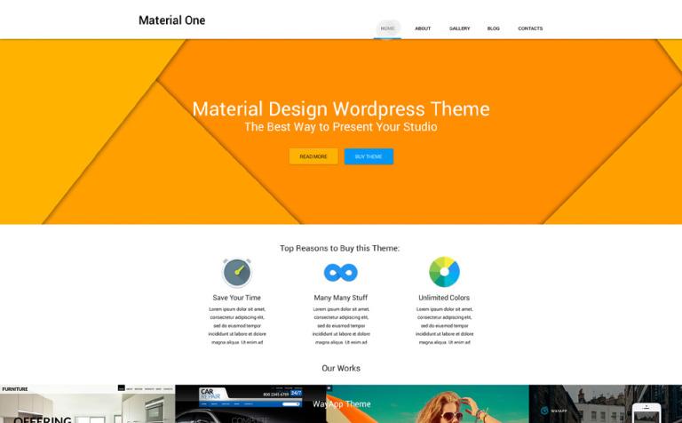 Tema de WordPress #53492 para Sitio de Estudios de diseño