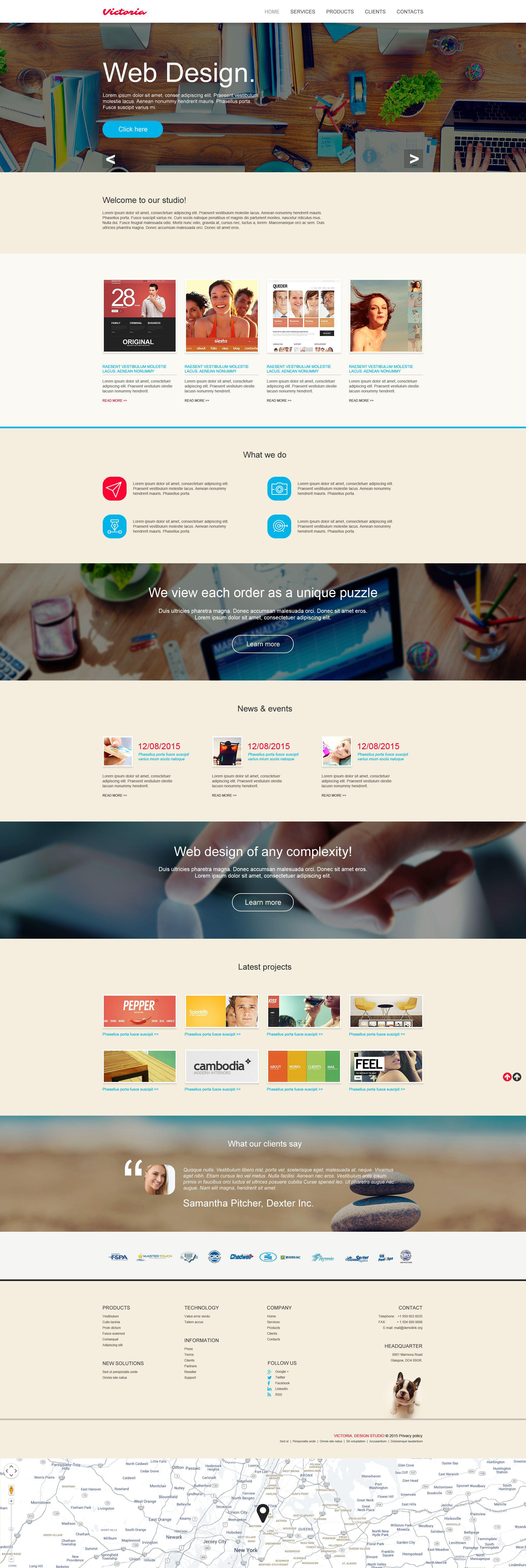 Tema muse 53463 per un sito di web design for Sito di design