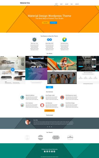 Flexível tema WordPress №53492 para Sites de Estúdio de Design