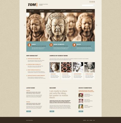 Sculpture Responsive Template Siti Web