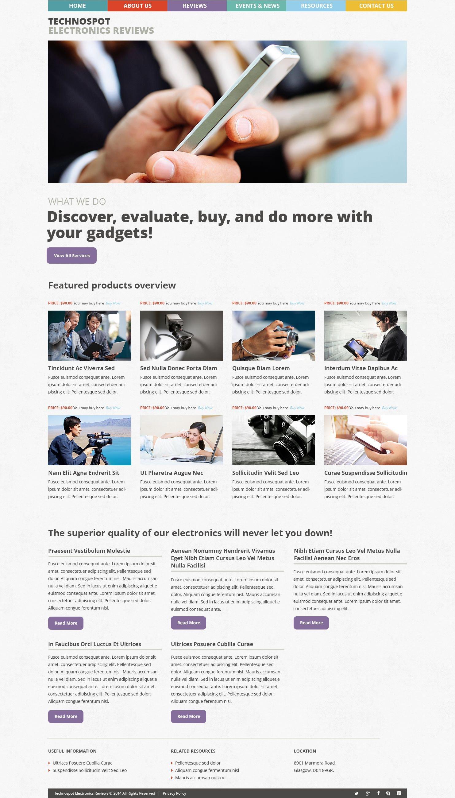 "Template WordPress Responsive #53488 ""Electronics Reviews"""