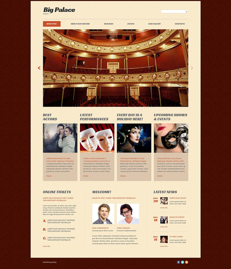 Theatre House Website Template New Screenshots BIG