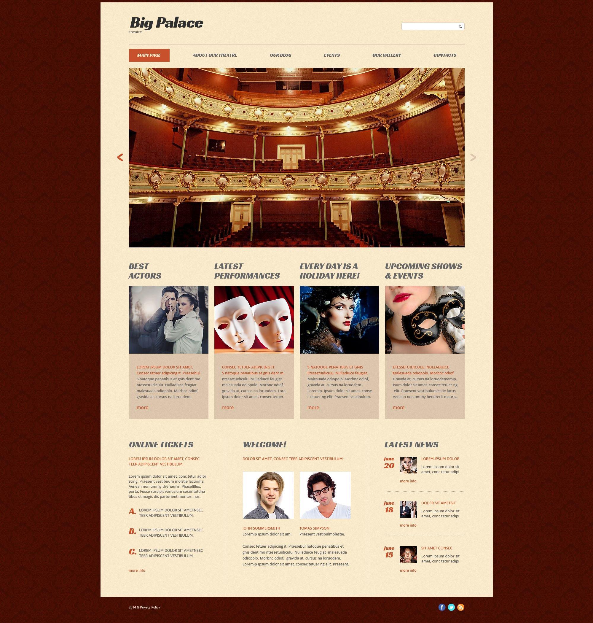 Theater website template theatre house website template maxwellsz