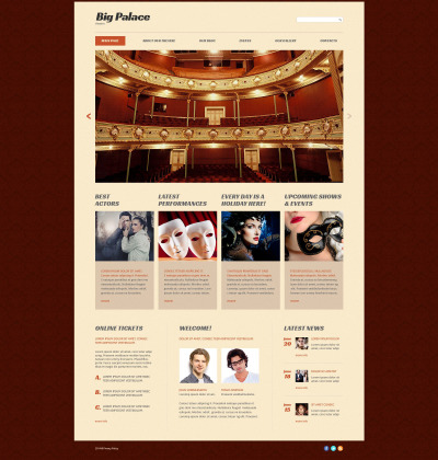 Theatre House Website Template