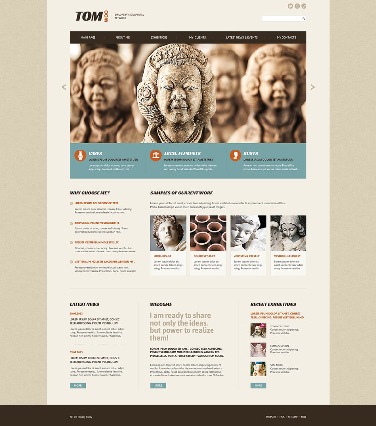 Tom Woo Website Template New Screenshots BIG