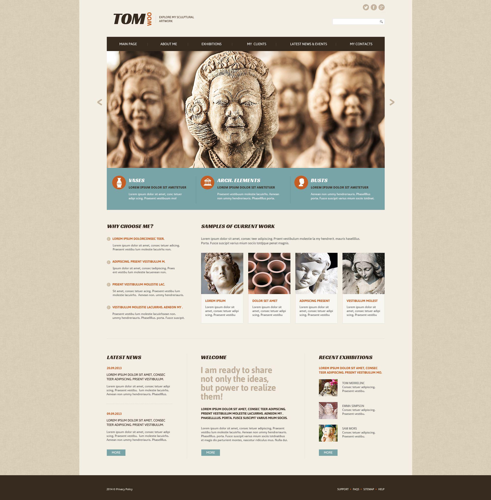 Tom Woo Website Template