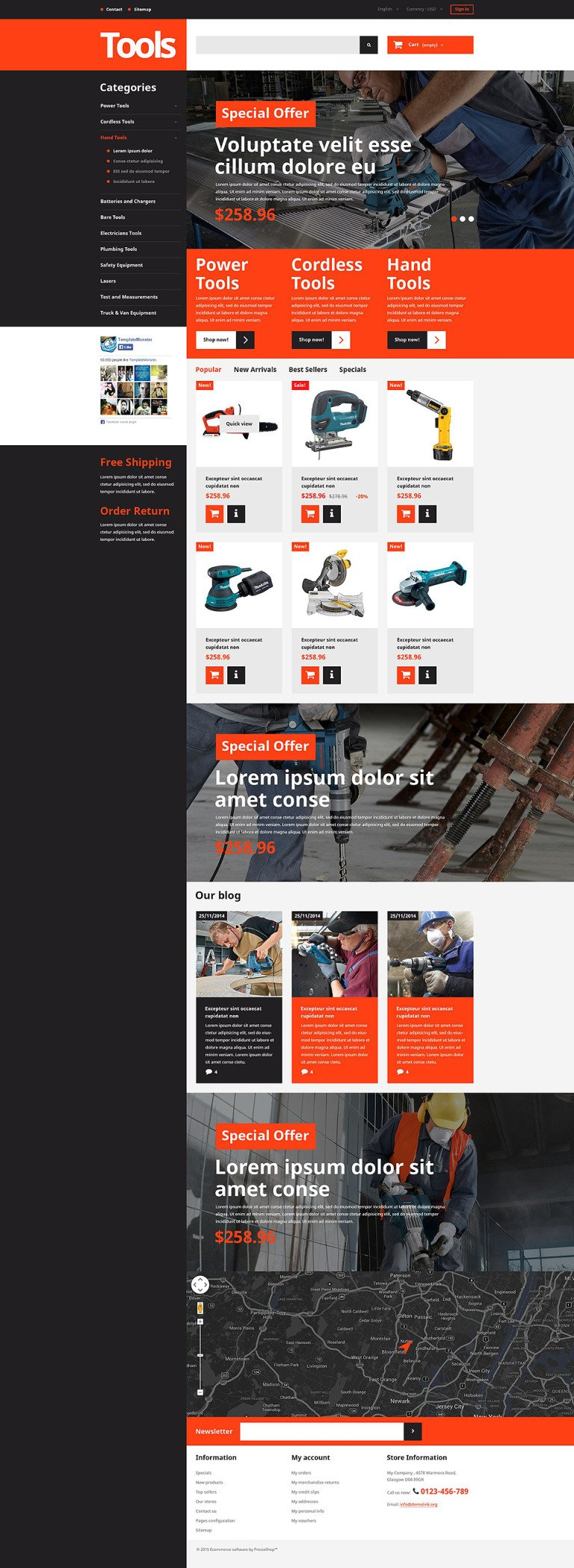 Tools and Supplies PrestaShop Theme New Screenshots BIG