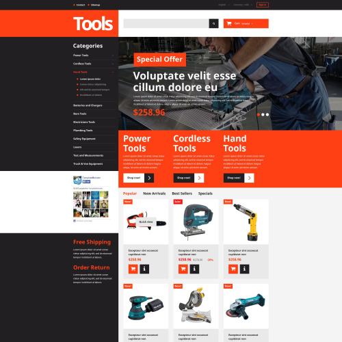 Tools  - PrestaShop Template based on Bootstrap
