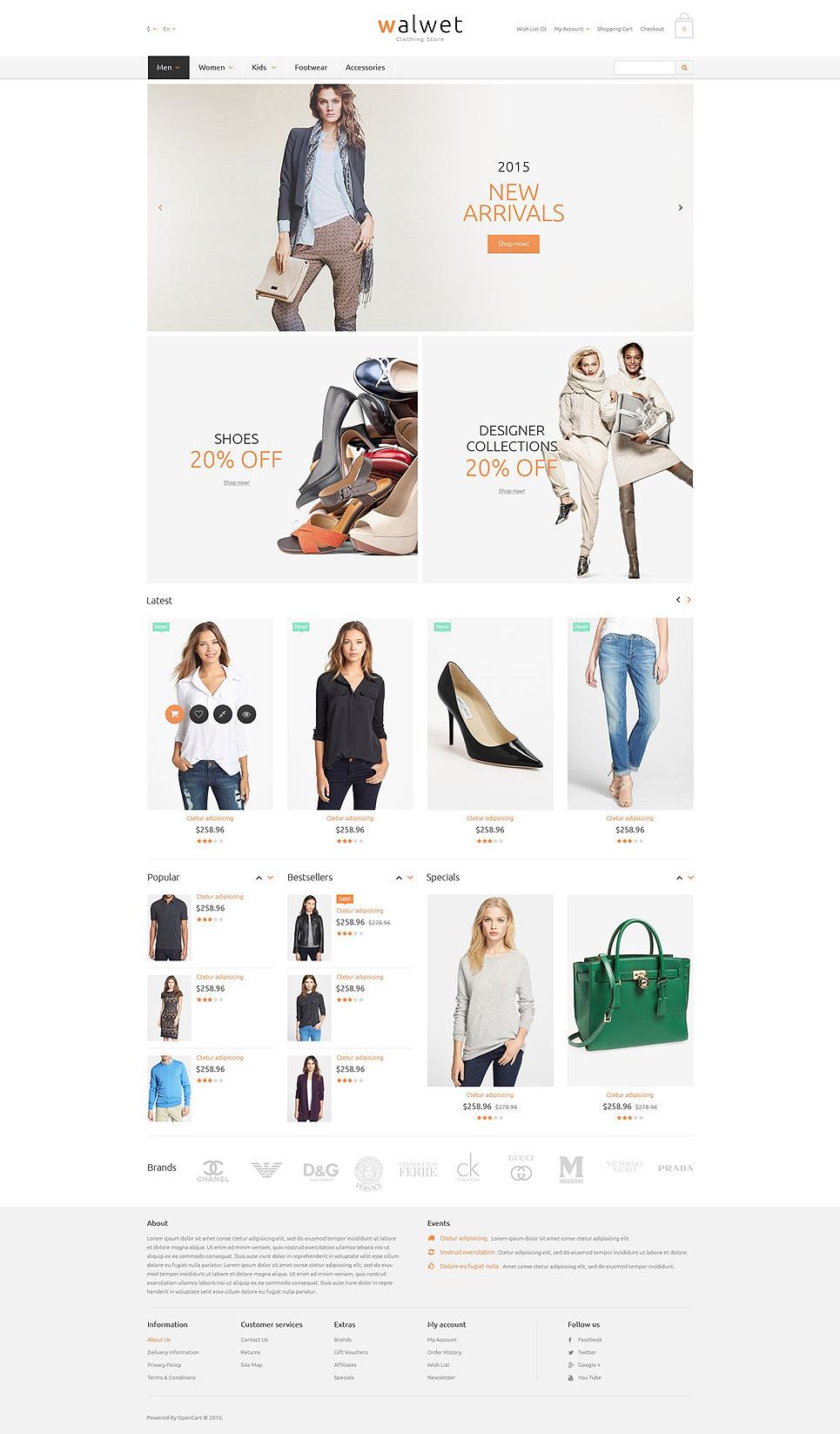Trendy Clothes Store OpenCart Template New Screenshots BIG