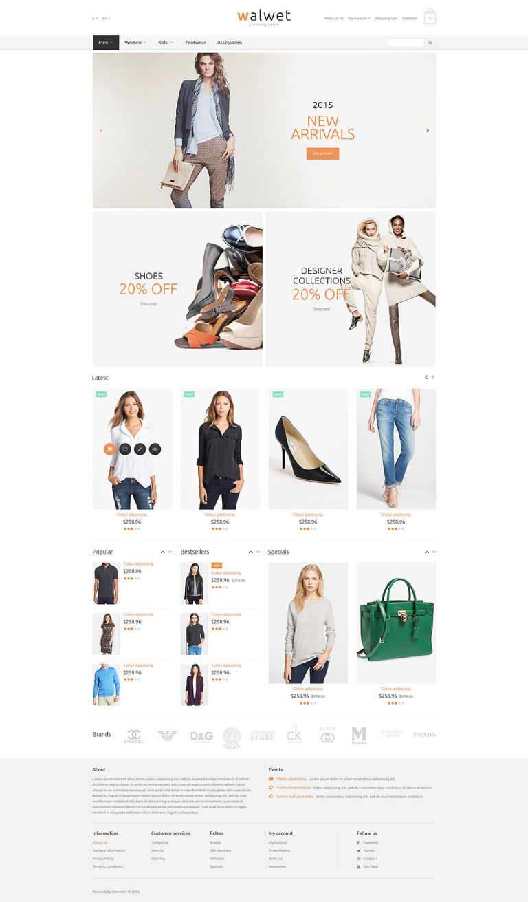 Trendy Clothes Store OpenCart Template New Screenshots BIG