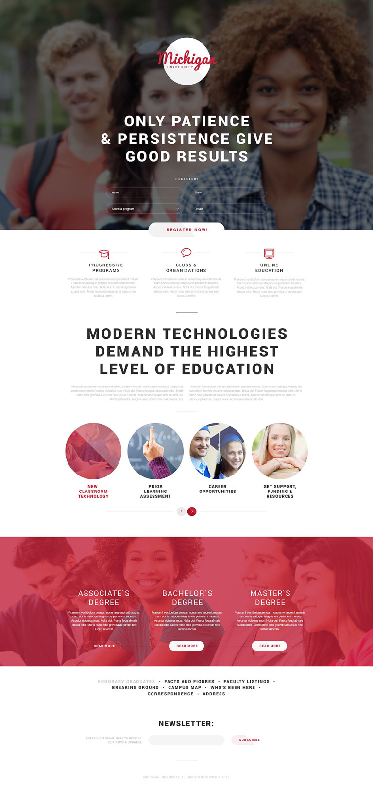University Responsive Landing Page Template New Screenshots BIG