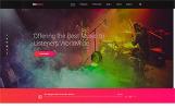 """Website Vorlage namens """"OnWave - Bright Online Radiostation Multipage HTML"""""""