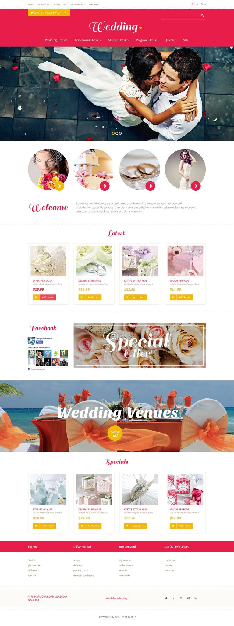 Wedding Store OpenCart Template New Screenshots BIG