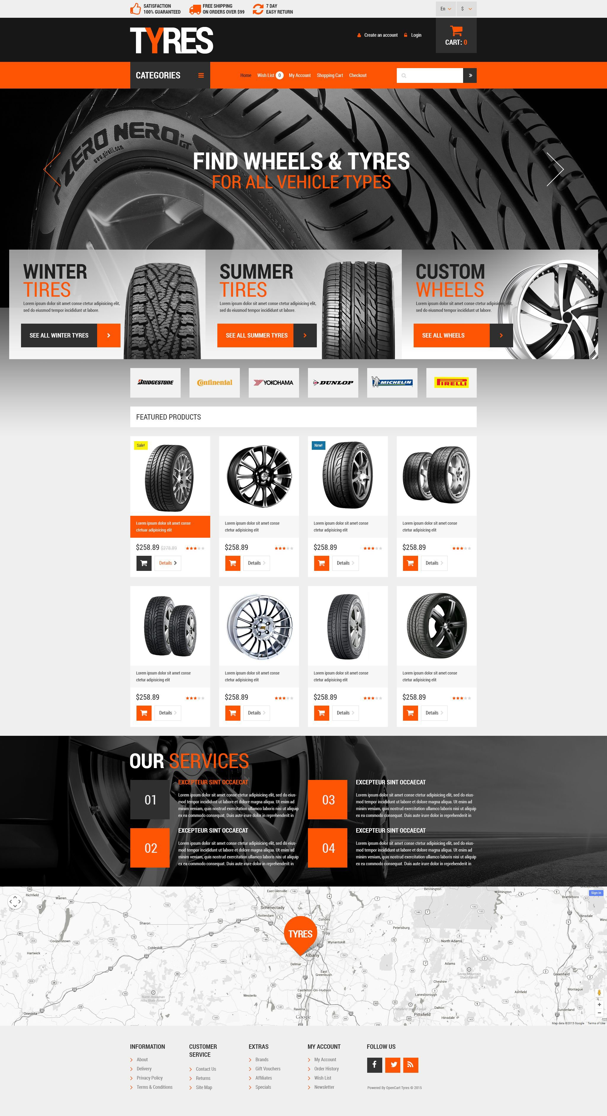 Wheels and Tyres Bootstrap Opencart Theme