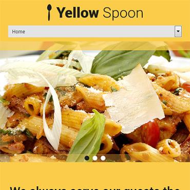 WordPress шаблон #53436 на тему кафе и ресторан от TemplateM