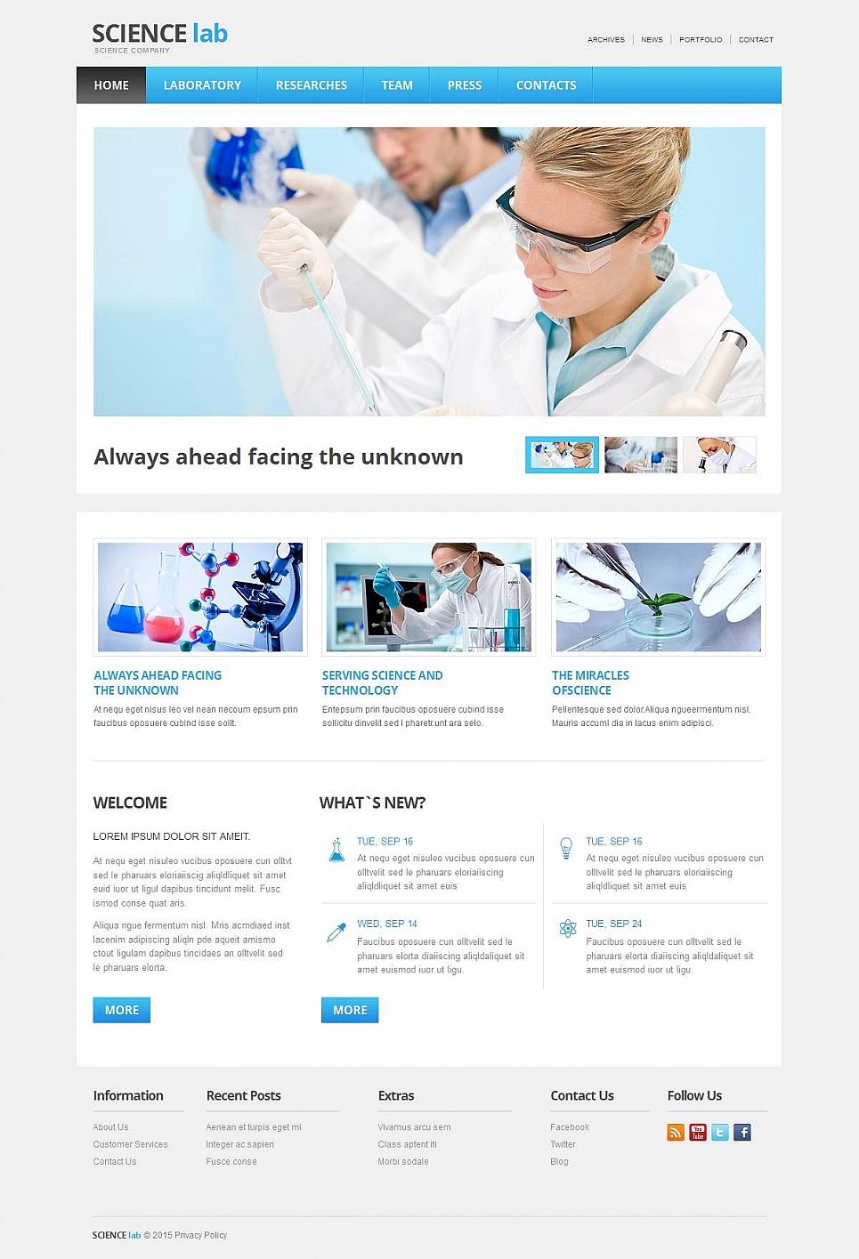 Science Laboratory Website Design - image