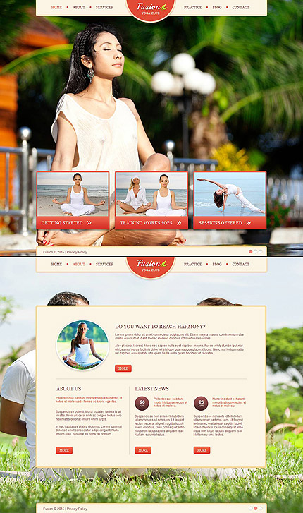 ADOBE Photoshop Template 53509 Home Page Screenshot