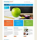 Education Moto CMS HTML  Template 53510