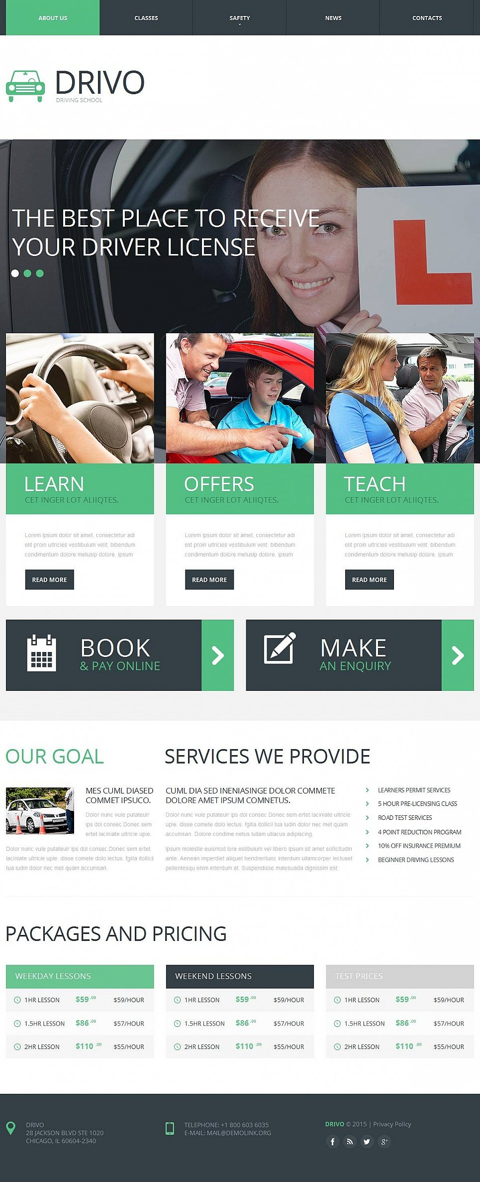 Driving Training Website Design - image