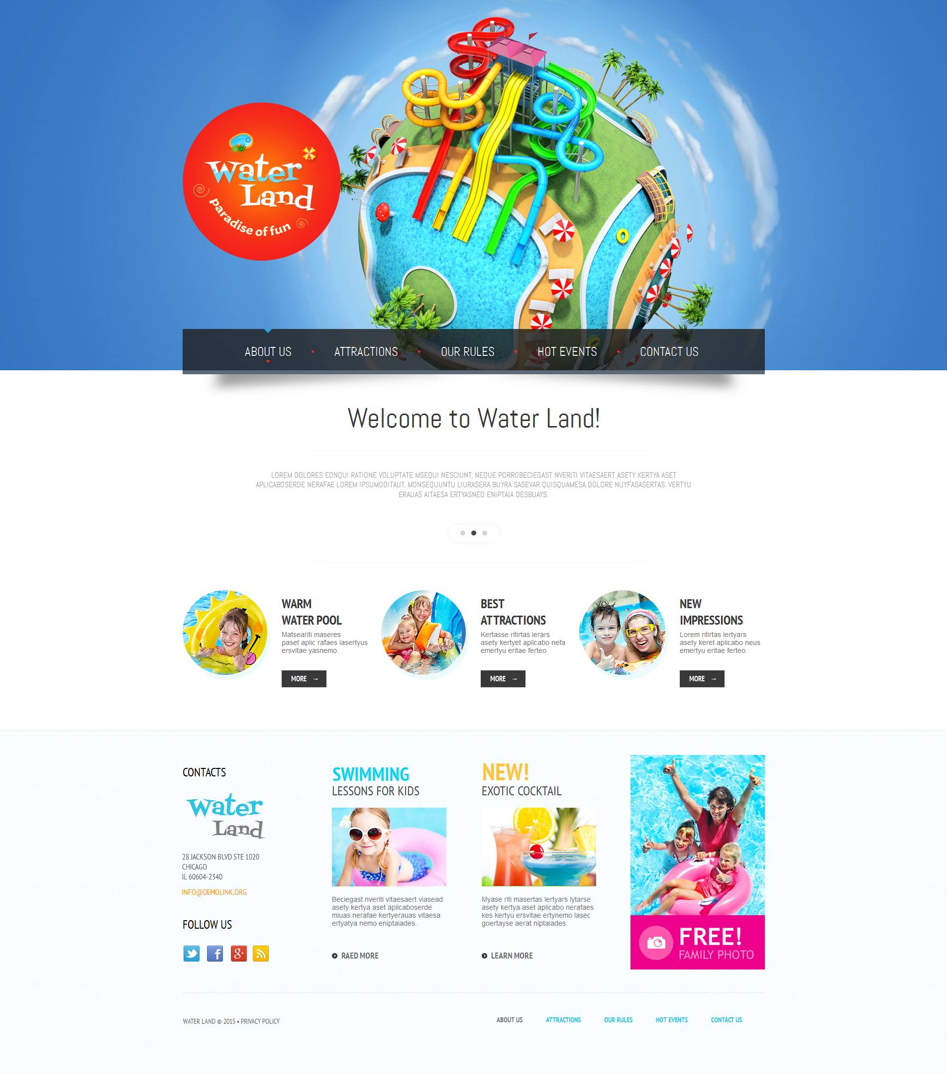 The Water Land Moto CMS HTML Design 53518, one of the best Moto CMS HTML templates of its kind (entertainment), also known as water land Moto CMS HTML template, aqua Moto CMS HTML template, part Moto CMS HTML template, underwater Moto CMS HTML template, aquatic Moto CMS HTML template, water Moto CMS HTML template, photos Moto CMS HTML template, gallery Moto CMS HTML template, entertainment Moto CMS HTML template, prices Moto CMS HTML template, rest Moto CMS HTML template, attractions Moto CMS HTML template, impressions and related with water land, aqua, part, underwater, aquatic, water, photos, gallery, entertainment, prices, rest, attractions, impressions, etc.