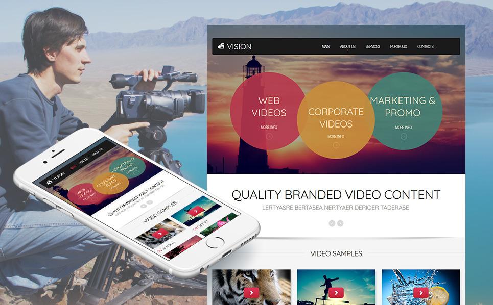Premium Moto CMS HTML Template over Videolab New Screenshots BIG