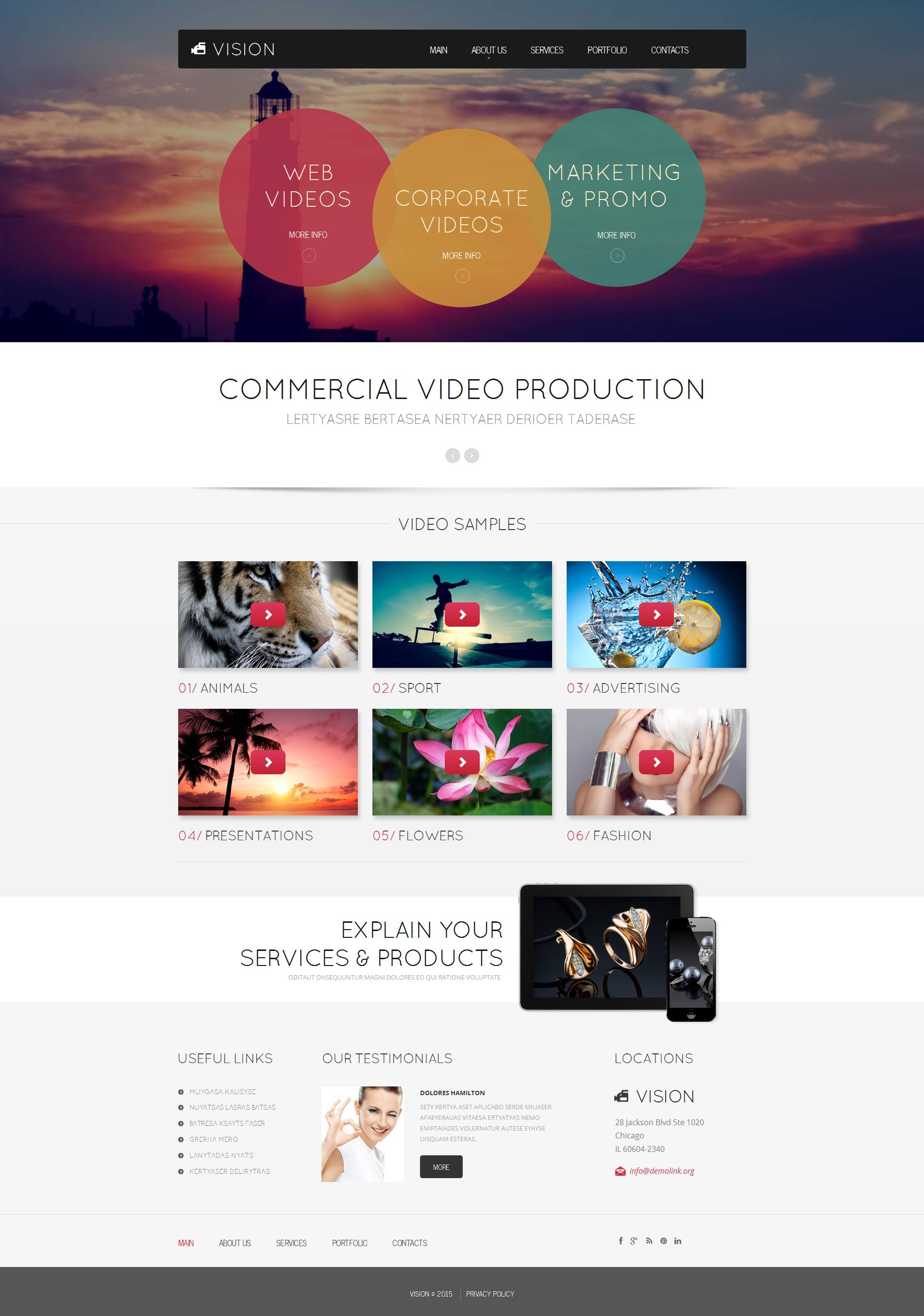 The Vision Commercial Video Moto CMS HTML Design 53519, one of the best Moto CMS HTML templates of its kind (media, most popular), also known as Vision commercial video Moto CMS HTML template, industry Moto CMS HTML template, production Moto CMS HTML template, dvd Moto CMS HTML template, sample Moto CMS HTML template, clients Moto CMS HTML template, web prices Moto CMS HTML template, operator Moto CMS HTML template, movie Moto CMS HTML template, motion Moto CMS HTML template, graphic Moto CMS HTML template, graphics Moto CMS HTML template, animation and related with Vision commercial video, industry, production, dvd, sample, clients, web prices, operator, movie, motion, graphic, graphics, animation, etc.