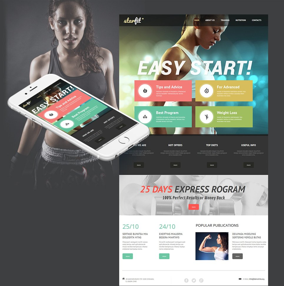 Fitness Training Website Template - image