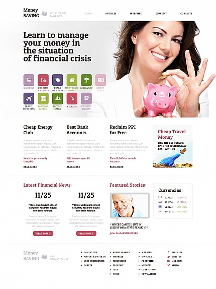 ADOBE Photoshop Template 53522 Home Page Screenshot