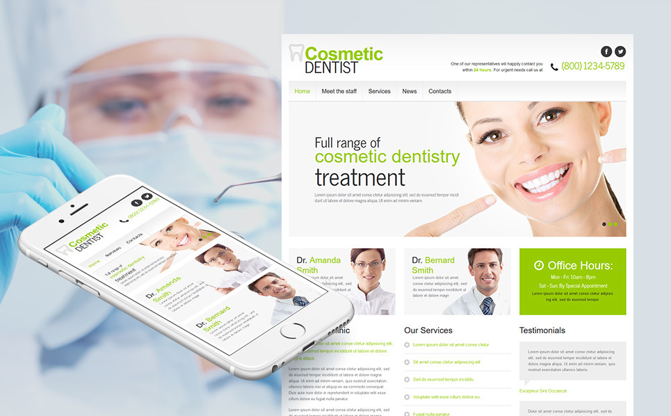 Modèle Moto CMS HTML  pour site de dentisterie New Screenshots BIG