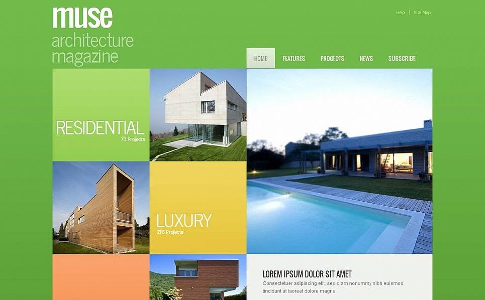 Luxusní Moto CMS HTML šablona na téma Architektura New Screenshots BIG