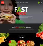 Cafe & Restaurant Website  Template 53532