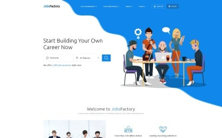JobsFactory - Job Portal Multipage HTML5 Website Template