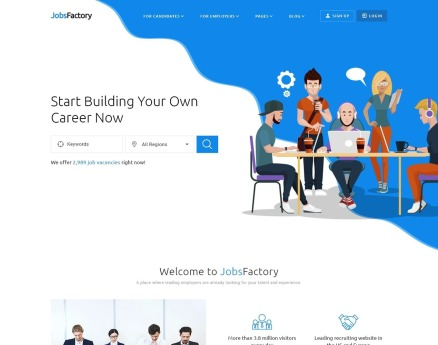 JobsFactory - Job Portal Multipage HTML5 Website Template