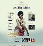 Music Website  Template 53536