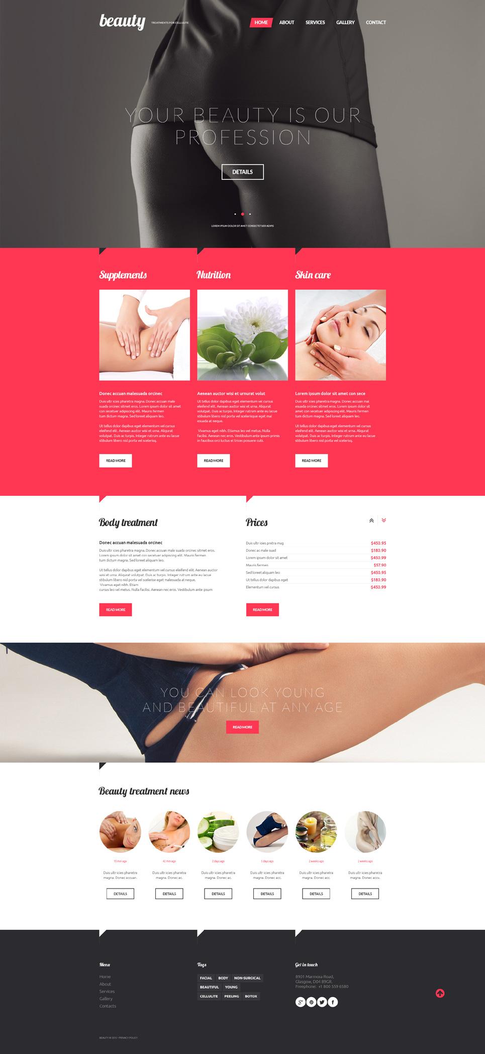 Treatments for Celulite template illustration image