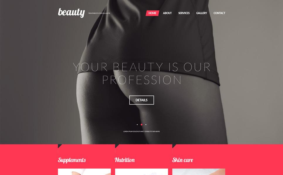 Responsive Website template over Massage Salon New Screenshots BIG