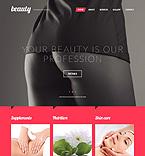 Beauty Website  Template 53537
