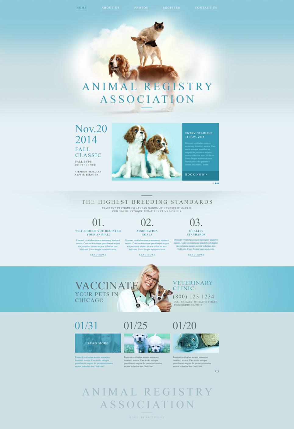 Animal Registry Association template illustration image