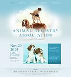 Animals & Pets Website  Template 53538