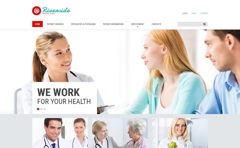 Responsive Medikal lar Web Sitesi Şablonu New Screenshots BIG