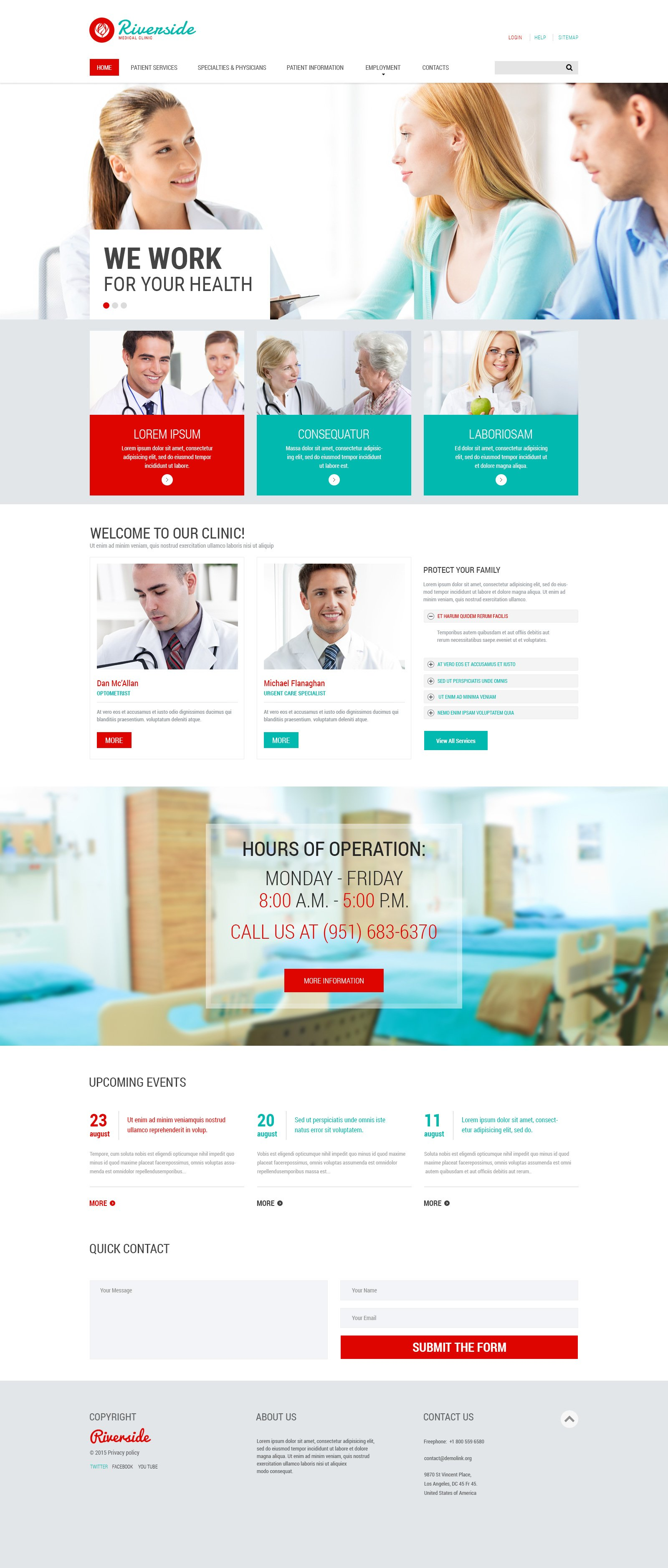 The Rivenside Medical Center Responsive Javascript Animated Design 53541, one of the best website templates of its kind (medical, most popular), also known as rivenside medical center website template, medical clinic website template, doctor website template, services website template, client website template, testimonials website template, body website template, help website template, inspection website template, equipment website template, patients website template, medicine website template, healthcare website template, surgery website template, science website template, laboratory website template, drugs website template, pills website template, nurse website template, cure website template, vaccine website template, treatment website template, oncology website template, prescription website template, pharmaceutical website template, disease website template, illness website template, vitam and related with rivenside medical center, medical clinic, doctor, services, client, testimonials, body, help, inspection, equipment, patients, medicine, healthcare, surgery, science, laboratory, drugs, pills, nurse, cure, vaccine, treatment, oncology, prescription, pharmaceutical, disease, illness, vitam, etc.
