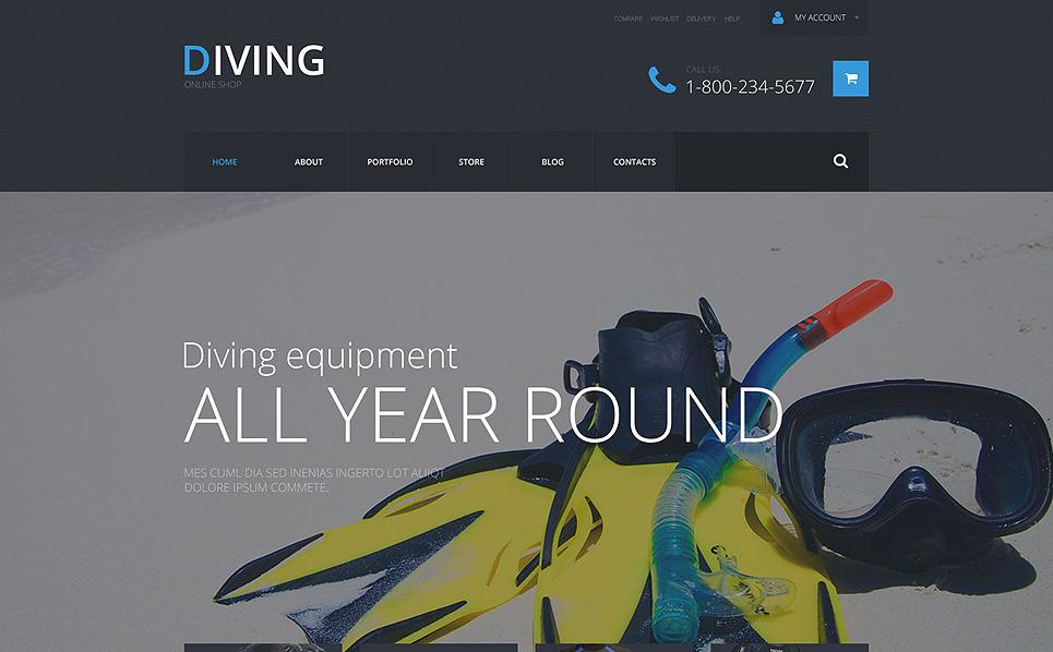 Адаптивний WooCommerce шаблон на тему дайвінг New Screenshots BIG